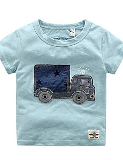 billige Overdele til drenge-Børn Baby Drenge Stribet Kortærmet T-shirt