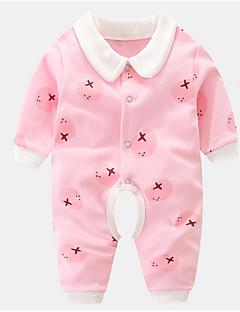billige Babytøj-Baby Unisex Ensfarvet Trykt mønster Langærmet En del
