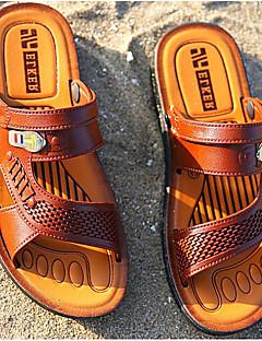 hesapli -Erkek Ayakkabı PVC Deri Bahar Rahat Sandaletler Dış mekan için Siyah / Sarı