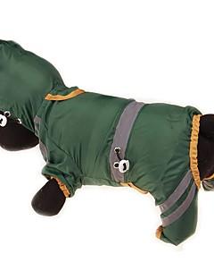 billiga Hundkläder-Hund / Katt / Husdjur Kappor / Regnjacka / Vattentät Hundkläder Enfärgad / Enkel Gul / Röd / Mörkgrön Akrylik Fiber Kostym För husdjur