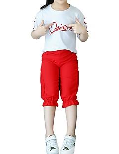 billige Tøjsæt til piger-Børn Pige Citron Trykt mønster Kortærmet Tøjsæt