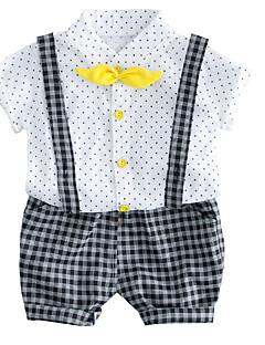 billige Tøjsæt til drenge-Baby Drenge Prikker Trykt mønster Kortærmet Tøjsæt