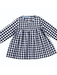 billige Pigekjoler-Baby Pige Sort og hvid Ruder 3/4-ærmer Kjole