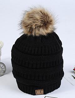 billige Hatter til damer-Dame Aktiv Solhatt Ensfarget Bomull / Høst / Vinter
