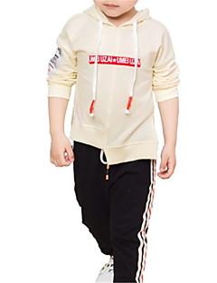 billige Overdele til drenge-Børn Drenge Ensfarvet Langærmet Bluse