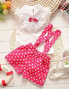 billige Tøjsæt til piger-Børn Baby Pige Prikker Uden ærmer Tøjsæt