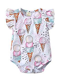 billige Babytøj-Baby Unisex Trykt mønster / Farveblok Uden ærmer Bodysuit