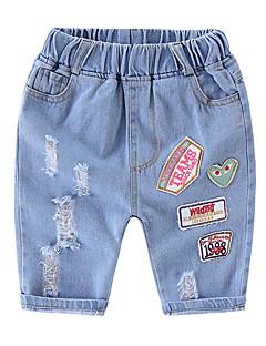 voordelige Jongensbroeken-Kinderen Jongens Print Jeans