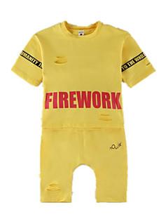 billige Tøjsæt til piger-Børn / Baby Pige Trykt mønster Halvlange ærmer Tøjsæt