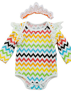 billige Babytøj-Baby Unisex Stribet Kort Ærme En del