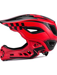 billiga Cykling-ROCKBROS Barn cykelhjälm / BMX Hjälm 12 Ventiler Avtagbar visir ESP+PC sporter Cykling / Cykel - Svart / vit / Svart / röd / Grön / Svart