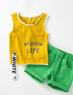 billige Tøjsæt til drenge-Børn Baby Drenge Geometrisk Uden ærmer Tøjsæt
