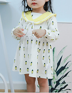 billige Babykjoler-Baby Pige Ananas Frugt 3/4-ærmer Kjole