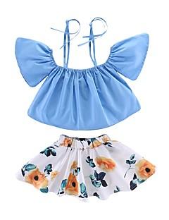 billige Tøjsæt til piger-Børn Pige Galakse Kortærmet Tøjsæt