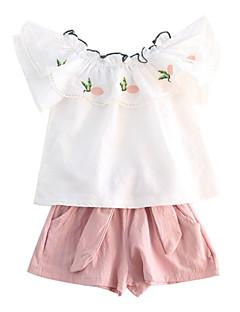 billige Tøjsæt til piger-Børn / Baby Pige Frugt Kortærmet Tøjsæt