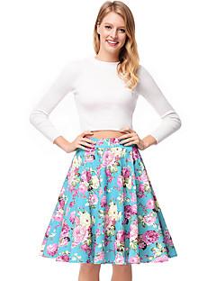 billige Skjørt-kvinner over kneet en linje skjørt - floral