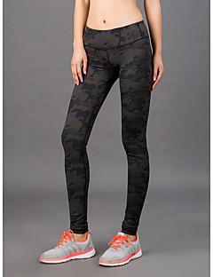 baratos Leggings para Mulheres-Mulheres Diário Esportivo Legging - Estampa Colorida Cintura Média