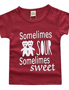 billige Babyoverdele-Baby Unisex Ensfarvet Kortærmet T-shirt