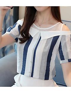 billige Damemode og tøj-Dame - Ensfarvet Kvast Vintage T-shirt Kran