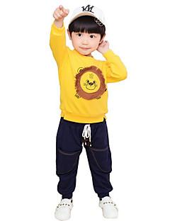billige Overdele til drenge-Børn Drenge Trykt mønster Langærmet T-shirt