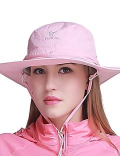 billige Clothing Accessories-VEPEAL Turcaps Hatt Vindtett Fort Tørring Pusteevne Sommer Rosa Unisex Fisking Reise Vandring Ensfarget Netting Voksne