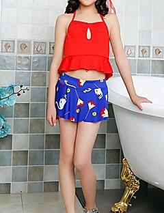 billige Badetøj til piger-Børn Pige Ensfarvet / Blomstret Uden ærmer Badetøj
