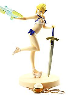 baratos Cosplay Anime-Figuras de Ação Anime Inspirado por Fate / Stay Night Saber PVC 19 cm CM modelo Brinquedos Boneca de Brinquedo