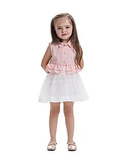 billige Pigetoppe-Børn Baby Pige Ensfarvet Uden ærmer Skjorte