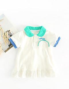 billige Babykjoler-Baby Pige Geometrisk Kortærmet Kjole