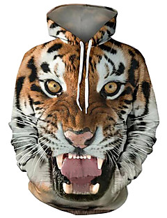 cheap Men's Hoodies & Sweatshirts-Men's Basic / Exaggerated Hoodie - 3D / Cartoon, Print