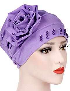 billige Hatter til damer-Dame Grunnleggende / Ferie Solhatt - Perler, Ensfarget