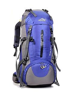 billiga Ryggsäckar och väskor-65+5 L Ryggsäck / ryggsäck - Anti-halk, Torkar snabbt, Vattentät dragkedja Camping, Klättring Nylon Grön, Blå, Silver+Orange
