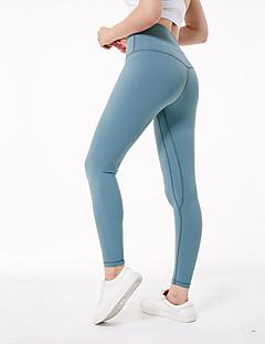 billiga Träning-, jogging- och yogakläder-Dam Yoga byxor - Fuschia, Bläck blå, ljusgrön sporter Elastan Cykling Tights / Leggings Sportkläder Bekväm Hög Elasisitet