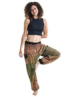 billiga Träning-, jogging- och yogakläder-Dam Yoga byxor - Marinblå, Vinröd, Mörkgrön sporter Bohemisk Underdelar Sportkläder Mateial som andas Elastisk