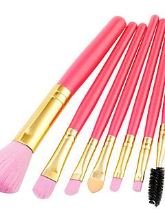 billiga Sminkborstar-7 st Makeupborstar Professionell Borstsatser Nylon fiber Miljövänlig / Mjuk Trä / Bambu