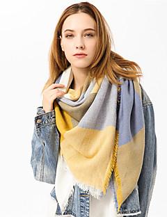 baratos Cachecóis da Moda-Mulheres Básico / Férias Quadrangular - Franjas Estampa Colorida