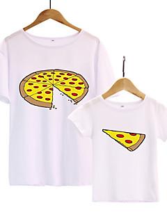 billige Sett med familieklær-Pappa og meg Geometrisk Kortermet T-skjorte