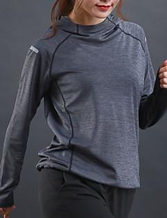 billiga Träning-, jogging- och yogakläder-Dam Yoga Top - Grå, Röd, Grön sporter N / A Elastan Collegetröja Långärmad Sportkläder Torkar snabbt, Fitness Elastisk