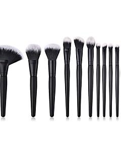 billiga Sminkborstar-13pcs Makeupborstar Professionell Borstsatser / Rougeborste / Ögonskuggsborste Nylon fiber Mjuk / Fullständig Täckning Trä / Bambu