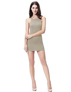 billiga Mammakläder-Dam Bodycon / Mantel Klänning - Enfärgad Mini / Ovanför knäet