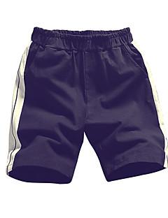 billige Herrebukser og -shorts-Herre Store størrelser Bomull Løstsittende Chinos / Shorts Bukser Stripet / Fargeblokk