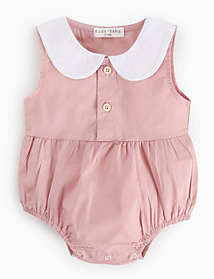 cheap The Freshest One-Piece-Baby Girls' Active Solid Colored Sleeveless Cotton Bodysuit Pink