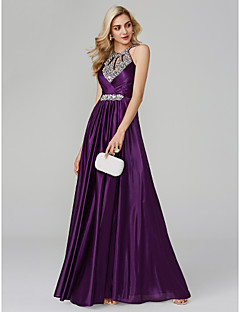 Kate Middleton Dress Style A-Line Halter Neck Floor Length Silk Sparkle    Shine   Beautiful Back   Keyhole Prom   Formal Evening Dress with Sequin    Ruched ... f0df16b49