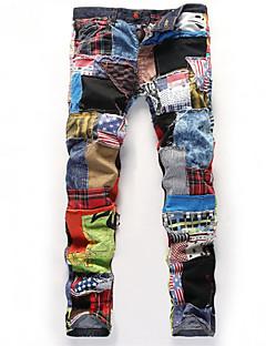 billige Herrebukser og -shorts-Herre Grunnleggende Jeans Bukser Kamuflasje