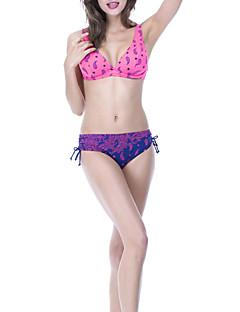 billige Bikinier og damemote 2017-Dame Bikini G-streng Blomstret
