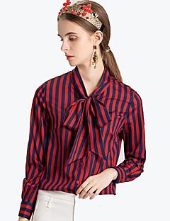 billige Dametopper-Skjorte Dame - Stripet / Dyr Aktiv / Grunnleggende