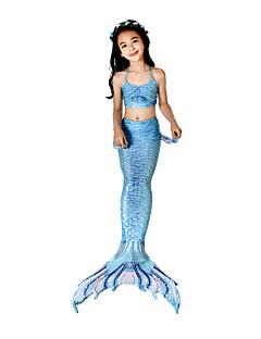 olcso -The Little Mermaid Bikini Jelmez Lány Gyermek Vintage Mindszentek napja Farsang Fesztivál / ünnepek Mindszentek napi kösztümök ruhák Tintakék Sellő