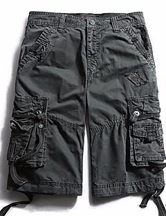 billige Herrebukser og -shorts-Herre Gatemote Lastebukser Bukser Ensfarget