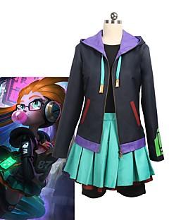 """billige Anime Kostymer-Inspirert av LOL Cosplay Anime  """"Cosplay-kostymer"""" Cosplay Klær Annen Langermet Frakk / Topp / Skjørte Til Unisex"""