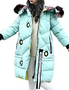 Χαμηλού Κόστους Πώληση-Παιδιά Κοριτσίστικα Ενεργό / Κομψό στυλ street Εξόδου Στάμπα Blană Curată / Στάμπα Μακρυμάνικο Μακρύ Βαμβάκι Επένδυση με Πούπουλα & Βαμβάκι